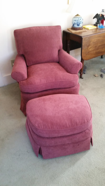 Club Chair Reupholstered