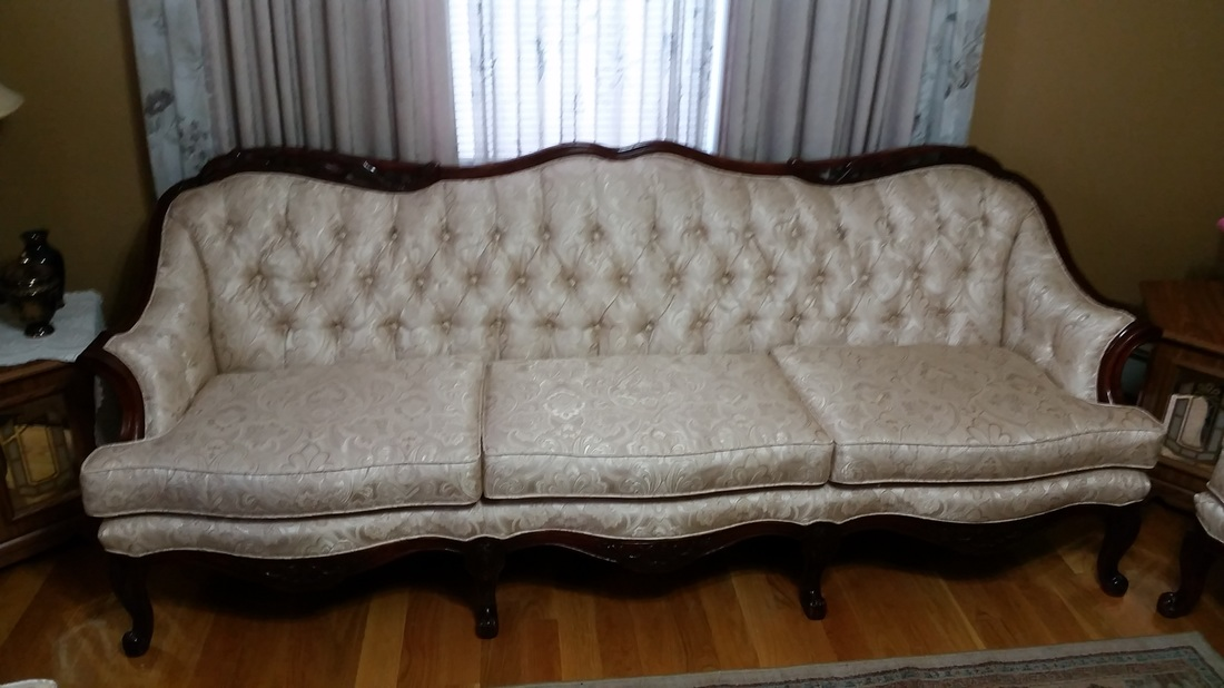 Hand Tufted Sofa Just Reupholsterd By Our Expert Craftsman. Landry Home  Decorating ...