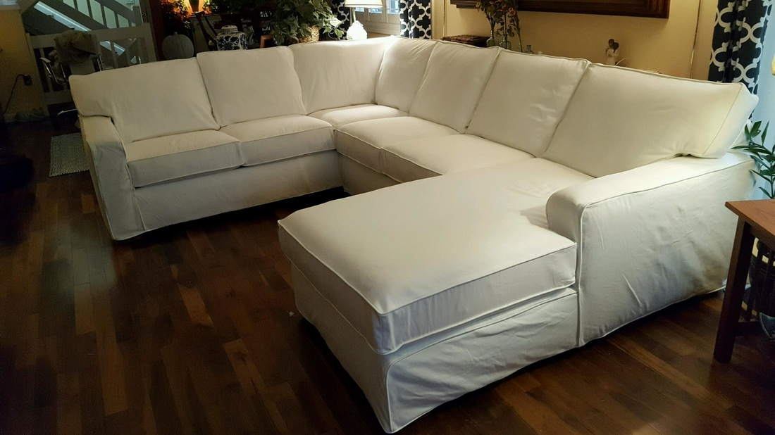 Custom slipcover for sectional