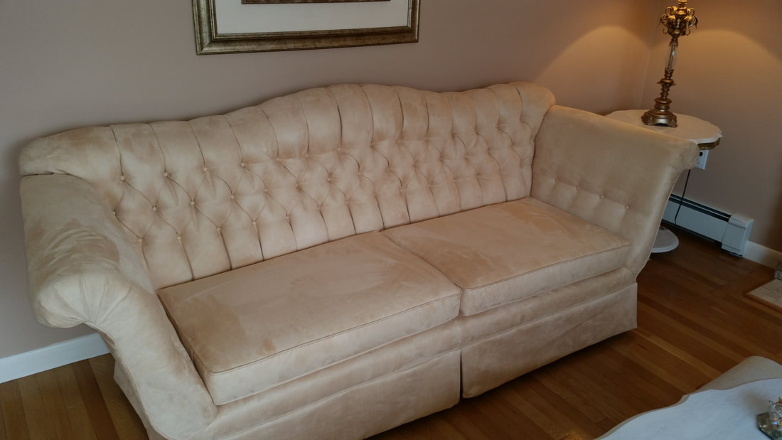 Upholstered Sofa And Settee