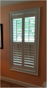 Hunter Douglas Shutters at our Showroom in Peabody MA