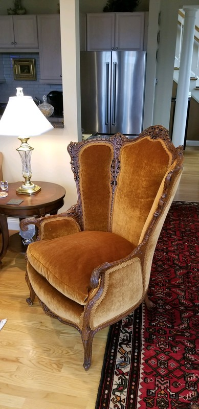 Upholstered Antique Chair
