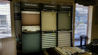 Window Treatment showroom at Landry Home Decorating in Peabody MA